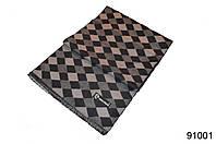 Мужской кашемировый серый шарф ромбом, фото 1