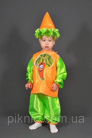 Детский костюм Морковка детям 4,5,6,7 лет на праздник Осени Карнавальный Морковь Морква мальчику девочке, фото 2