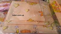 Комплект сменного постельного белья 3 в 1 бязь розовый мишка