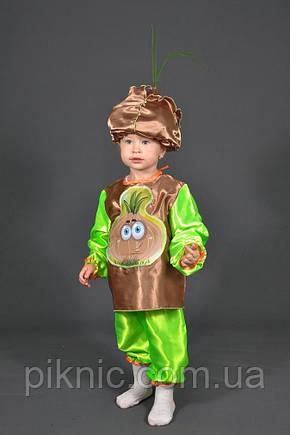 Детский костюм Лук для детей 3,4,5,6,7 лет. Карнавальный костюм Цибуля Лучок овощи для мальчиков и девочка, фото 2