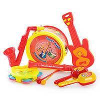 Погремушка 03626-15/03626-8 (96шт) муз.инструменты, 7шт в кульке, 20,5-25-7см