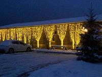 Гирлянда Водопад 2х2 метра 480 led. Световой занавес, Штора, Дождь для украшения интерьеров Желтый