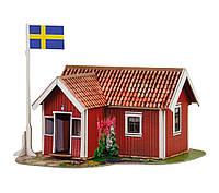 """Сборная модель из картона """"Шведский домик"""". Масштаб 1/87"""