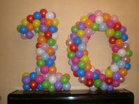 """Число из шариков ассорти """"10"""""""