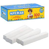 Мел MK 0406 белый школьный, 100 шт.