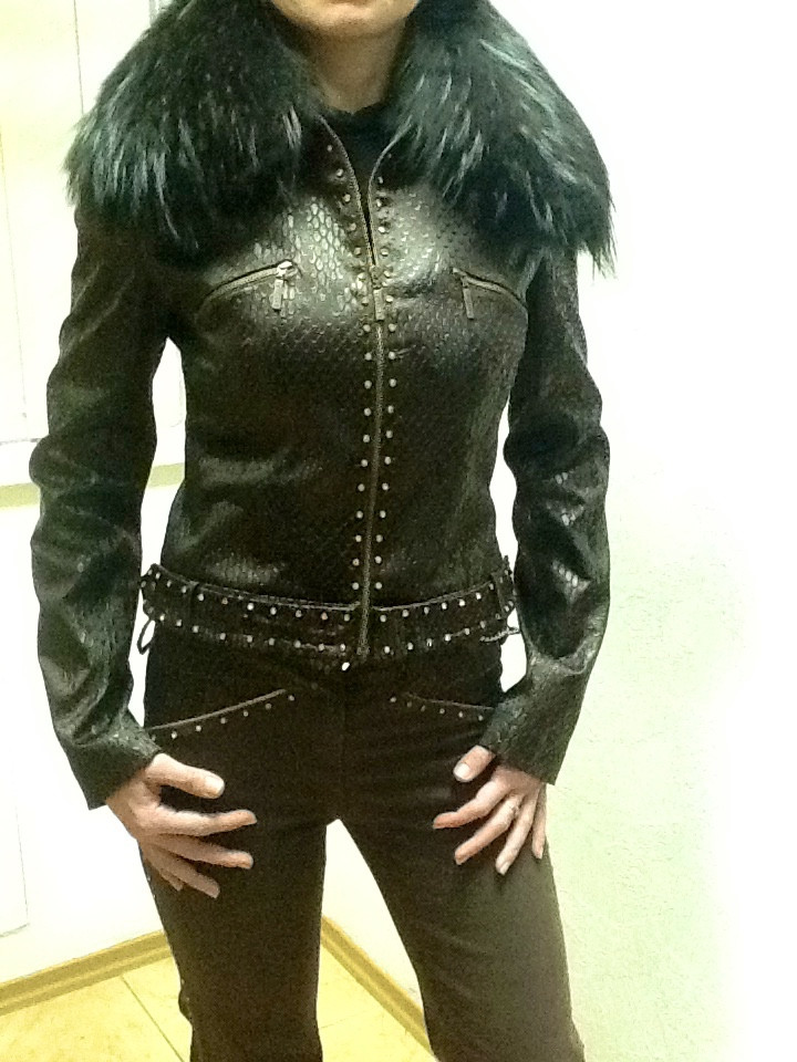 Костюм Balizza джинсы и куртка на молнии шоколадный