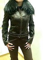 Костюм Balizza джинсы и куртка на молнии шоколадный, фото 1