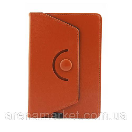 Чехол для 7 дюймового  планшета с поворотом на 360 градусов – коричневый