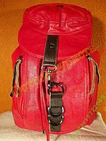 Рюкзак городской женский кожзам-оригинальный красный, фото 1