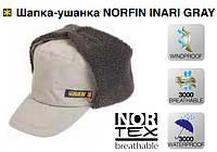 Зимняя шапка ушанка NORFIN серая, размер L