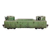 Картонная модель Бронеплощадка НКПС-42 303 Умная Бумага