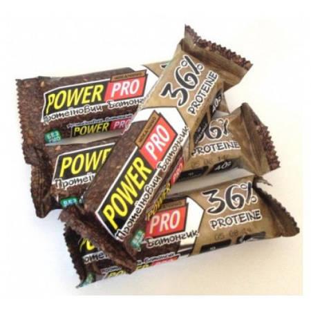 Power Pro Протеиновый батончик 36% мокачино 60 г, 20 шт