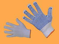 Трикотажные перчатки с ПВХ точкой (Польша)