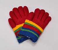 Перчатки двойные махровые 2-4 года.  красные. И есть 1 упаковка ассорти 6 шт мальчик+девочка.