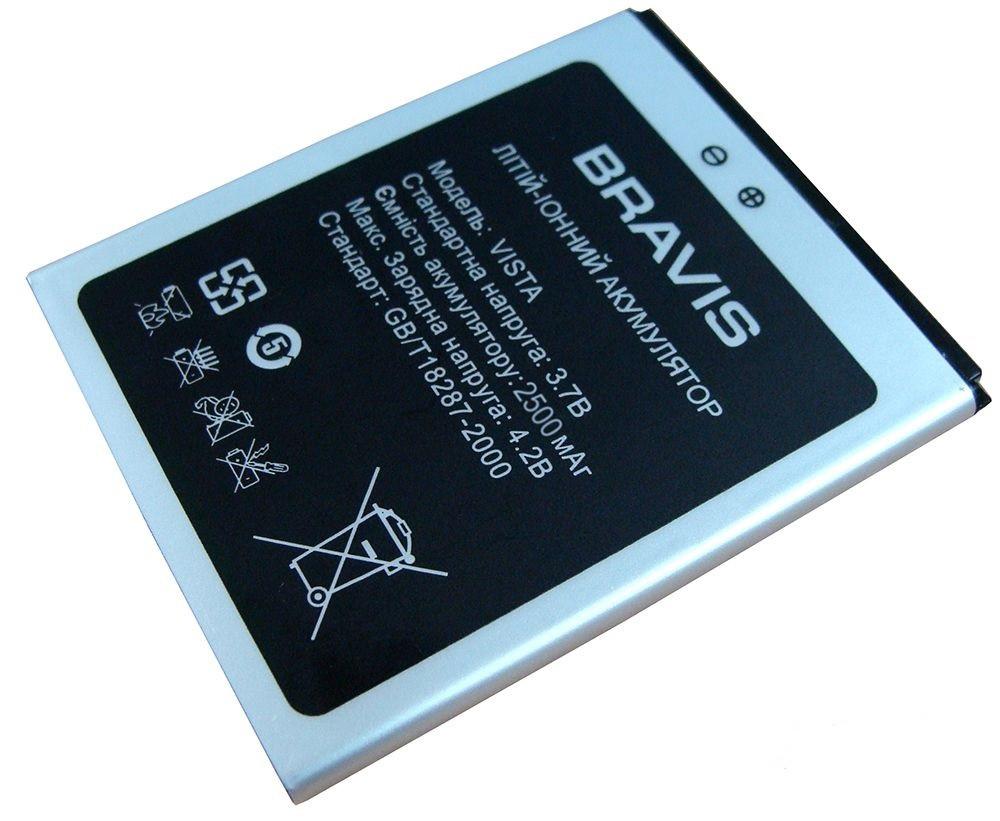 Аккумулятор к телефону Bravis Vista усиленная 2500mAh