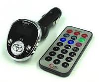 Модулятор Трансмиттер MP3 FM TF LCD Овальный со значком