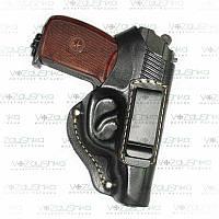 Кобура для пистолета ПМ, поясная,кожа, со скобой для скрытого ношения.
