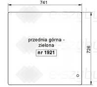 СТЕКЛО МИНИ ЭКСКАВАТОР HITACHI ZX22U-2 ZX27U-2 ZX30U-2 ZX40U-2 ZX50U-2 - ВЕРХНЯЯ ПЕРЕДНЯЯ