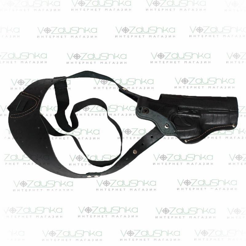 Кобура оперативная для пистолета Beretta М92 возможность поясного ношения кожа