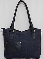 Сумка повседневная джинс стильная синяя, фото 1