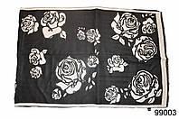 Кашемировый палантин Роза черный, фото 1