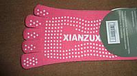 Йога Носки для танцев с пальцами полиэстер размер 36-41 розовый