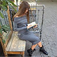 Платье Ангора Цвет черный, серый, голубой, пудра, горчица, беж Длина 100 см ипос №057-250