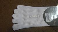 Носки для йоги и танцев с пальцами полиэстер размер 36-41 серые