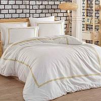 Комплект постельного белья Dantela SIENA Beyaz-Gold 200х220 см