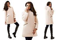 Пальто с капюшоном (зима) кашемировое теплое