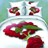 Комплект постельного белья Home Textile Love You 200х220 см Евро STP898