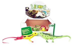 Детские игрушки животные. Ящерица Lizard 2004A. Резиновая игрушка ящерица в упаковке 12 шт.