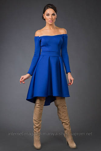 Платье женское открытые плечи