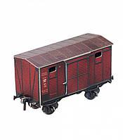 Картонная модель Двухосный крытый вагон 383 УмБум