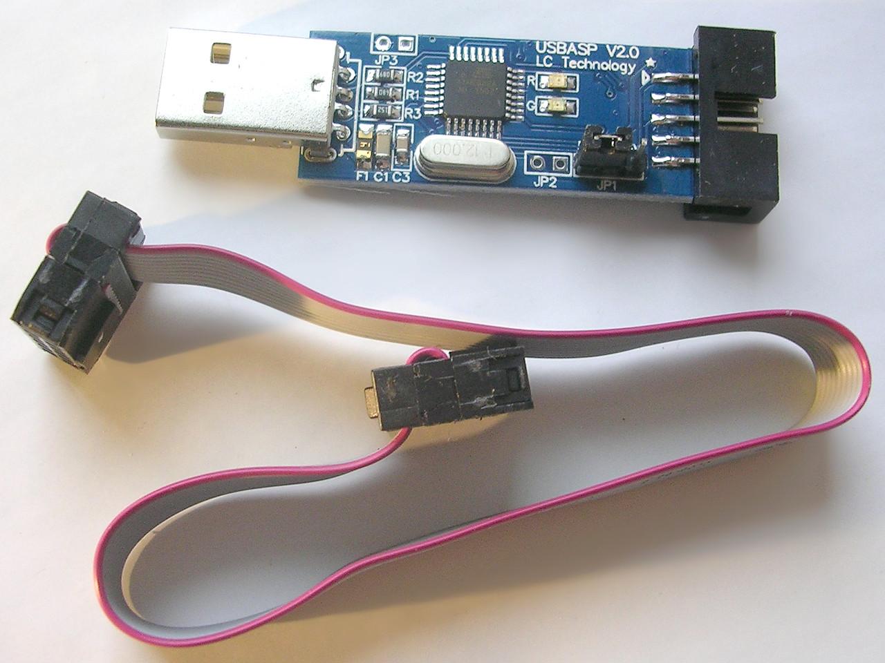 Usbasp Avr 33v 5v Atmega8 Atmel Usb Programmer Circuit Zif Socket 4