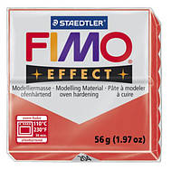 Полимерная глина Fimo Effect Прозрачный Красный 56 гр