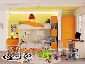 Модульная детская Бэмби 4 ф-ка SV Мебель