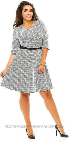 Платье женское полубатал юбка клеш