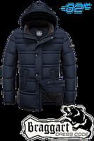 Куртка на меху мужская Braggart Dress Code - 2748B темно-синяя