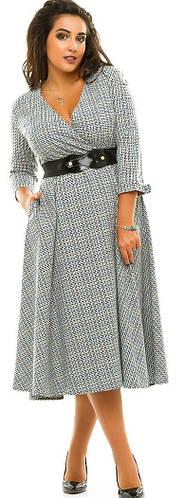 Платье женское полубатал юбка клеш пояс