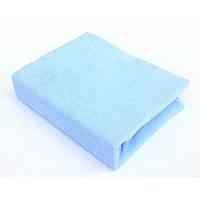 Простынь Twins махровая на резинке 120/60, голубой