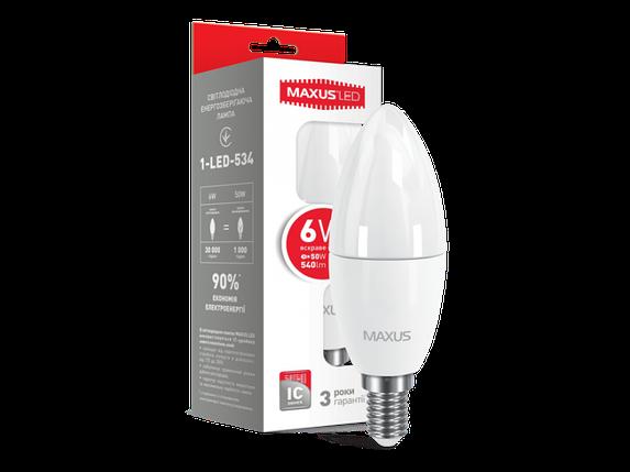 LED лампа C37 6W яркий свет 220V E14 (1-LED-534) (NEW), фото 2