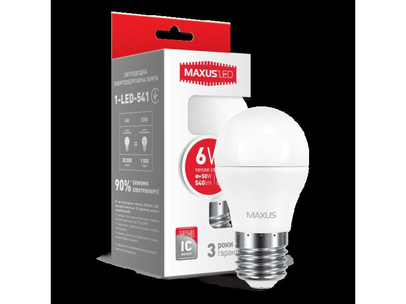 LED лампа G45 6W мягкий свет 220V E27 (1-LED-541) (NEW)