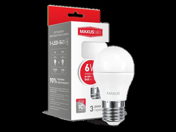LED лампа G45 6W мягкий свет 220V E27 (1-LED-541) (NEW), фото 2