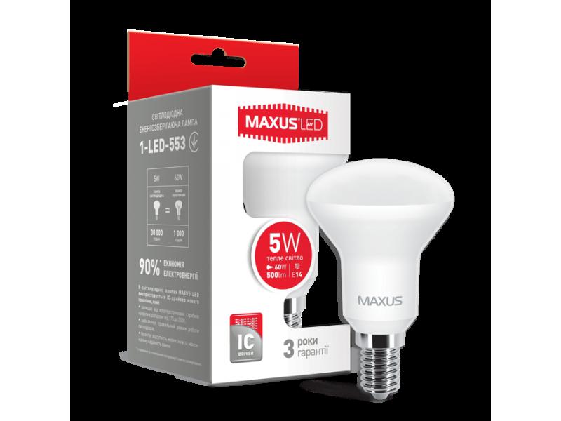 LED лампа R50 5W мягкий свет 220V E14 (1-LED-553) (NEW)