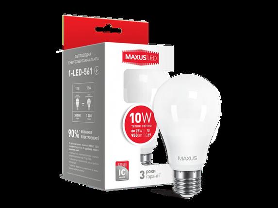 LED лампа A60 10W мягкий свет 220V E27 (1-LED-561) (NEW), фото 2