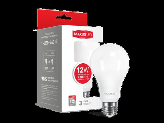 LED лампа A65 12W мягкий свет 220V E27 (1-LED-563) (NEW), фото 2