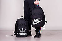 Мужской стильный рюкзак Nike и Adidas, найк черный