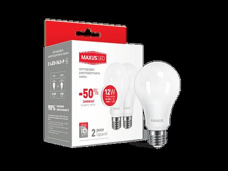 LED лампа MAXUS A65 12W мягкий свет 220V E27 (1-LED-563-P) (NEW), фото 2