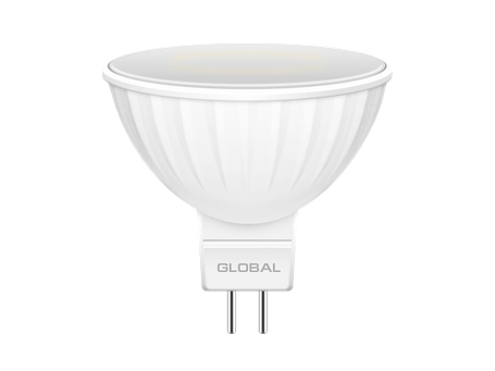LED лампа GLOBAL MR16 3W мягкий свет 220V GU5.3 (1-GBL-111) (NEW), фото 2
